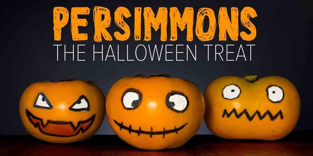 Halloween persimmons - a halloween treat