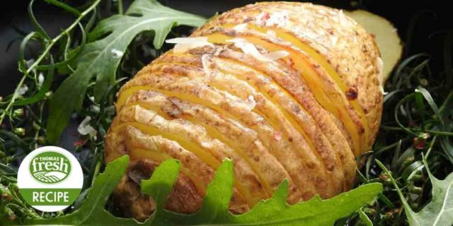 Hasselback Potatoes Recipe by Thomas Fresh
