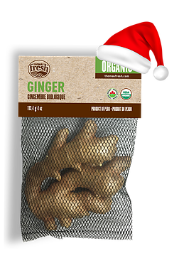 Organic ginger for Christmas - Thomas Fresh