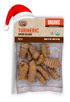 Organic tumeric for Christmas - Thomas Fresh
