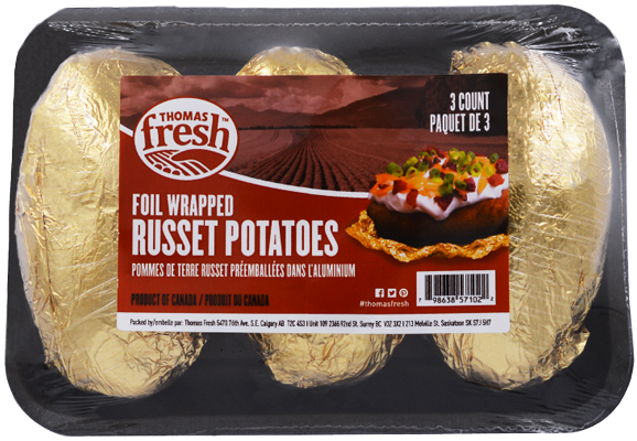 3 count tray russet potatoes - Thomas Fresh