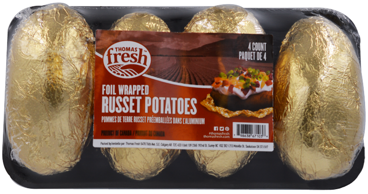 4 Count Foil Wrapped Potatoes - Thomas Fresh