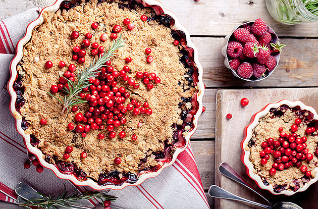 French Cranberry Apple Pie