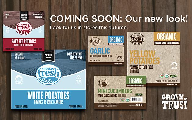 Thomas Fresh new packaging