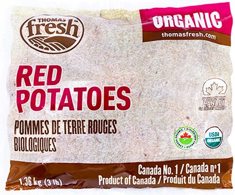 3 lbs Organic Red Potatoes - Thomas Fresh
