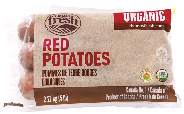5 lbs Organic Red Potatoes - Thomas Fresh