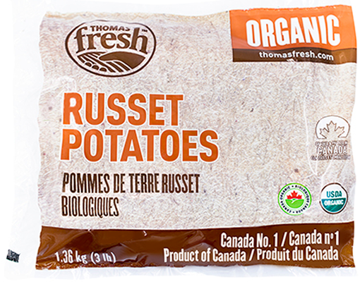 3 lbs Organic Russet Potatoes - Thomas Fresh
