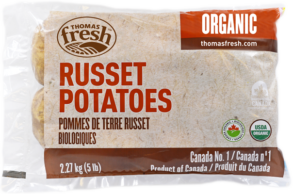 5 lbs Organic Russet Potatoes - Thomas Fresh