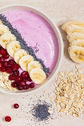 Pink breakfast bowl