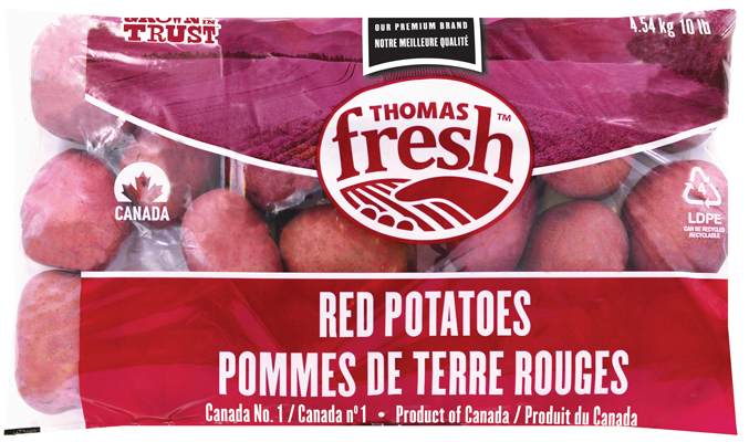 10 lb bag Red Potatoes - Thomas Fresh