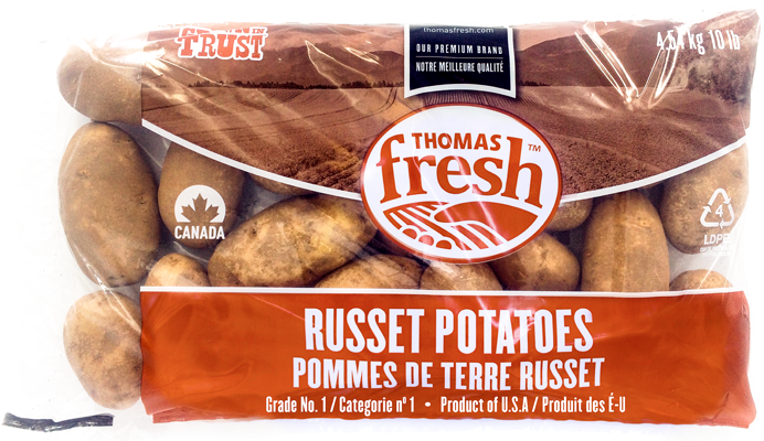 10 lb bag Russet Potatoes - Thomas Fresh