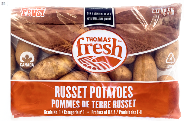 5 lbs bag Russet Potatoes - Thomas Fresh