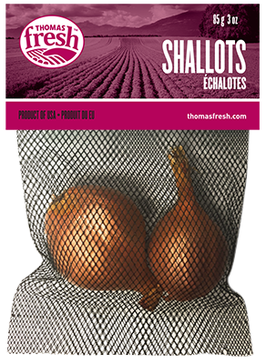3 oz bag of shallots - Thomas Fresh