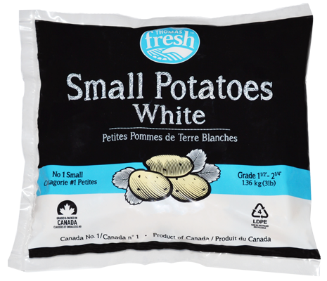 3 lb bag small white potatoes - Thomas Fresh