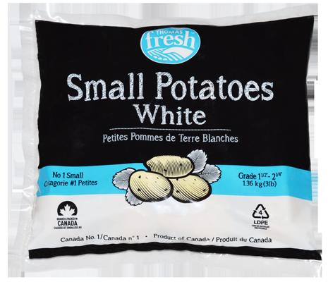 3 lb bag small white potatoes - Thomas Fresh
