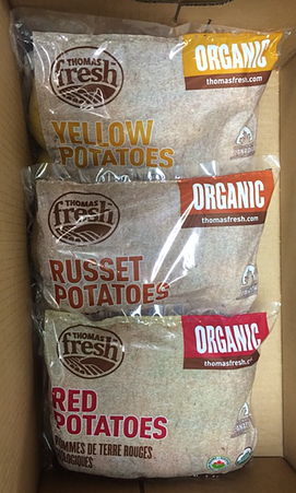 Thomas Fresh organic potatoes - red, russet, yellow