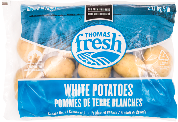 5lb bag white potatoes - Thomas Fresh
