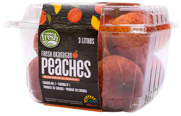 Peaches - 3 litre container - Thomas Fresh