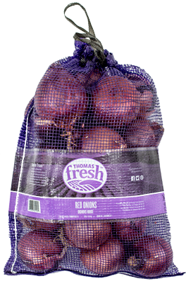 10lb bag red onions - Thomas Fresh