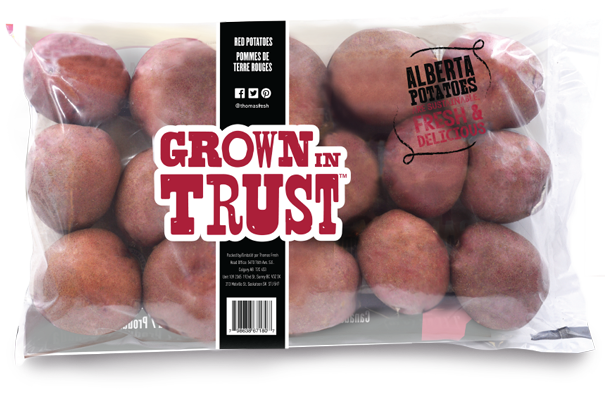 Alberta Red Potatoes - 5lb bag back - Thomas Fresh